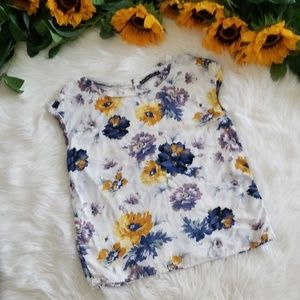 Abercrombie &Fitch Floral Shortsleeve Blouse